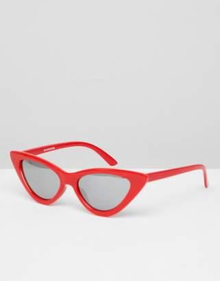 Glamorous Red Cat Eye Sunglasses