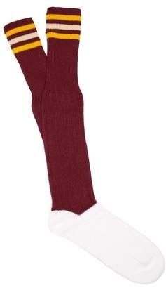 Marni Striped Cotton Blend Socks - Mens - Red White