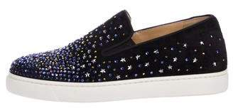Christian Louboutin Strass Dolcita Boat Embellished Sneakers