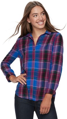 So Juniors' SO Button-Front Shirt