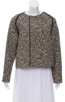 Gerard Darel Tweed Long Sleeve Jacket