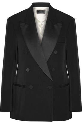 Isabel Marant - Oversized Satin-trimmed Wool-twill Blazer - Black