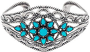 American West Bold Sterling Sleeping Beauty Turquoise Cuff Bracelet by American West