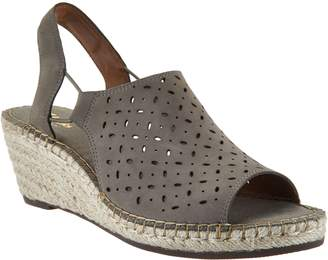 Clarks Artisan Leather Espadrille Wedge Sandals - Petrina Gail