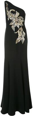 Marchesa one-shoulder gown