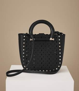 Reiss Mayfair Laser-Cut Mini Leather Tote