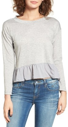 Women's Cotton Emporium Ruffle Trim Tee $45 thestylecure.com