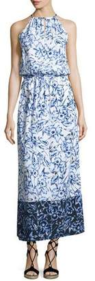 Tommy Bahama Sketchbook Blossoms Halter Maxi Dress, Blue/White $118 thestylecure.com