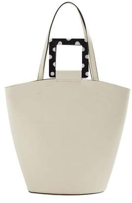 MANGO Polka-dot handles shopper bag