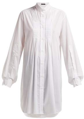 Ann Demeulemeester Oversized Pleat Front Cotton Shirt - Womens - Ivory