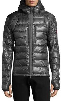Canada Goose Hybridge Lite Hooded Jacket, Gray $575 thestylecure.com