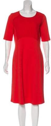 Max Mara Weekend Short Sleeve Midi Dress Red Weekend Short Sleeve Midi Dress
