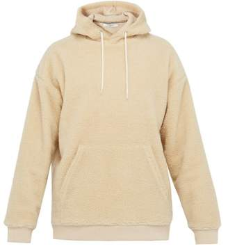 Givenchy Logo Embroidered Fleece Hooded Sweatshirt - Mens - Beige