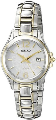 Seiko Women's SUT250 Solar Analog Display Japanese Quartz Two Tone Watch $275 thestylecure.com