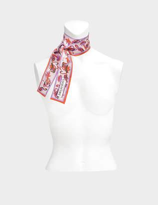 Emilio Pucci 5X2X120 cm Twilly Scarf in Fuchsia Twill Silk