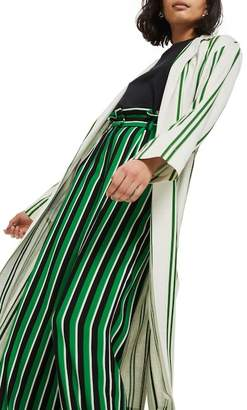 Topshop Slub Stripe Duster Coat