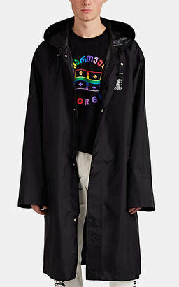 Vetements Men's Bar-Code-Print Oversized Long Raincoat - Black