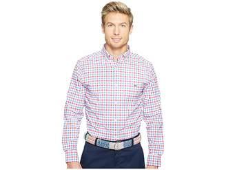 Vineyard Vines Reef Shark Gingham Classic Tucker Shirt Men's Clothing