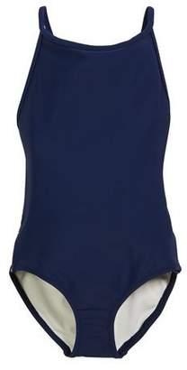 Burberry Sandine Check-Trim One-Piece Swimsuit, Size 3-14