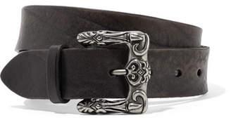 Saint Laurent Textured-leather Belt - Black