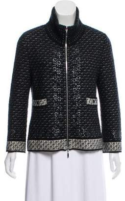 Chanel Embellished Zip-Up Cardigan