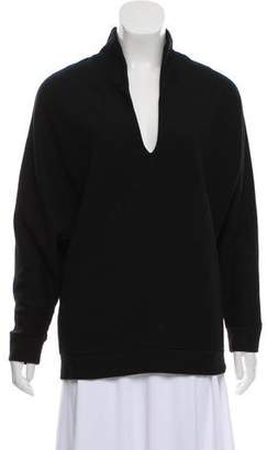 Tomas Maier Long Sleeve V-Neck Top