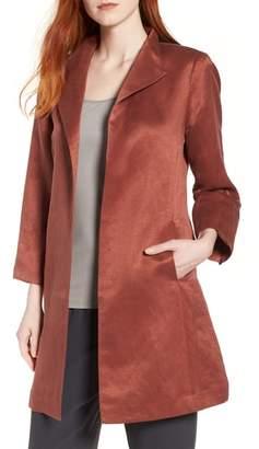 Eileen Fisher High Collar Long Jacket