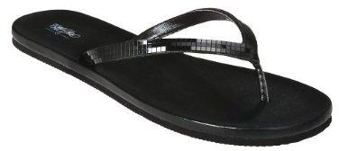 Women's Mossimo® Gemma Mirrored Flip Flops - Black