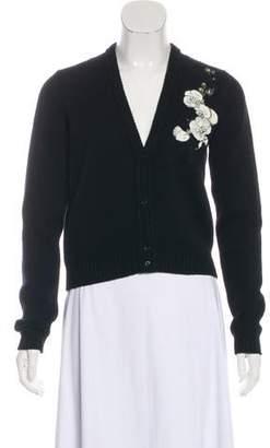 Fendi Embroidered Cashmere Cardigan