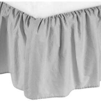 Tl Care Inc TL Care Cotton Percale Mini Crib Bed Skirt, Grey