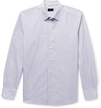 Ermenegildo Zegna Linen and Cotton-Blend Shirt - Men - Gray