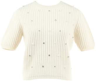 Miu Miu White Cashmere Knitwear