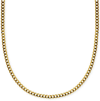"""Macy's 18"""" Curb Link Chain Necklace in Solid 14k Gold"""