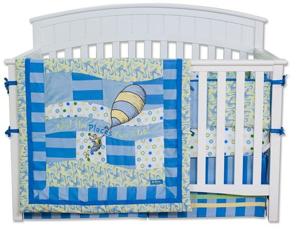 """Trend Lab Dr. seuss """"oh the places you'll go"""" bedding coordinates"""