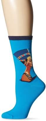 Hot Sox Women's Nefertiti Crew Casual Sock