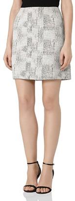 REISS Vivienne Jacquard Mini Skirt $240 thestylecure.com