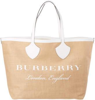 Burberry Giant Logo Jute Tote
