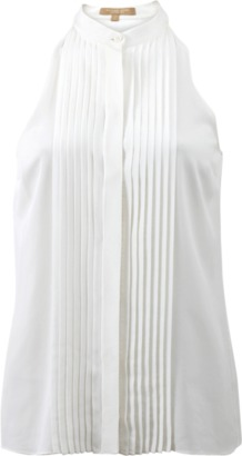 MICHAEL KORS Pleated Halter Top Blouse
