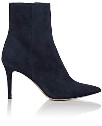 Barneys New York Women's Suede Ankle Boots - Navy