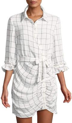 Style Stalker Stylestalker Rachelle Asymmetric Windowpane Shirtdress