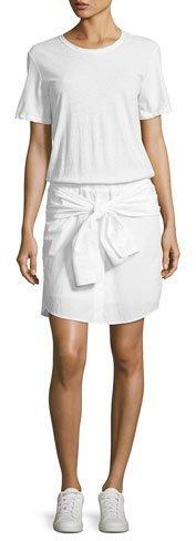 A.L.C.A.L.C. Corey Cotton T-Shirt Dress, White