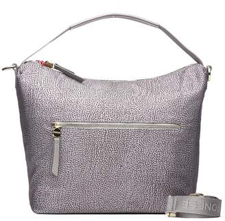 Borbonese Hobo Bag In Grey Nylon