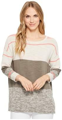 Tribal Long Sleeve Stripe Sweater Women's Sweater