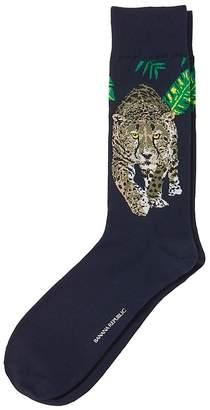 Banana Republic Jungle Cheetah Sock