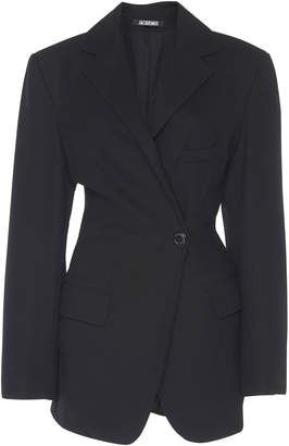 Jacquemus Single-Button Wool Blazer