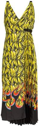 Prada sleeveless banana flame print dress