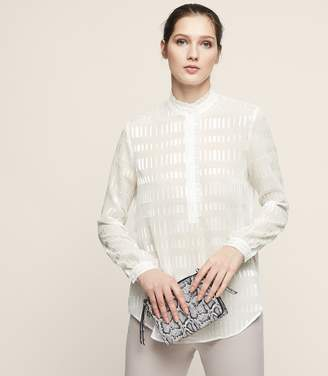Reiss Iona - Burnout Shirt in Off White