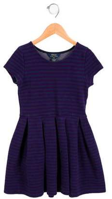 Polo Ralph Lauren Girls' Striped Short Sleeve Dress