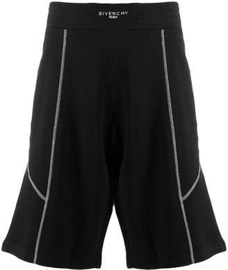 Givenchy contrast stitching bermuda shorts