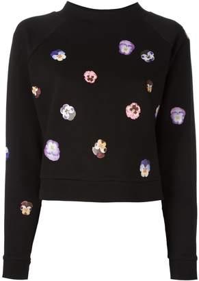 Christopher Kane flower panel sweatshirt